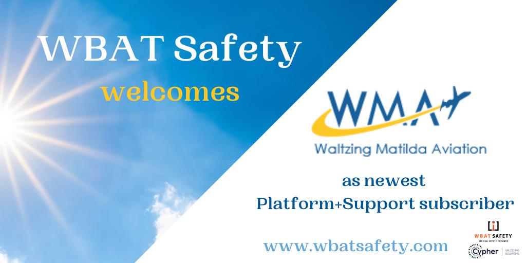WBAT Safety Welcomes Waltzing Matilda Aviation LLC as Newest Platform+ Subscriber